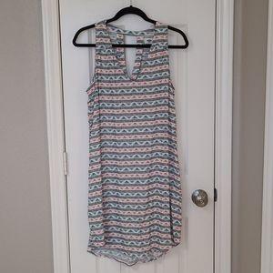 Women's sleeveless v-neck printed sundress